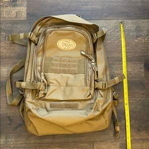 NFL San Fran 49ers Military inspired backpack